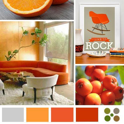 Paleta de colores naranja I