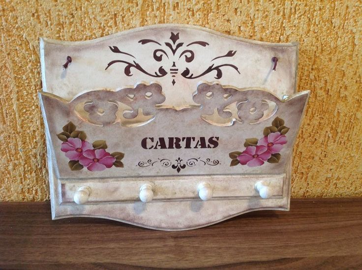 porta carta-chave em mdf. www.ideiasartesanato.com.br