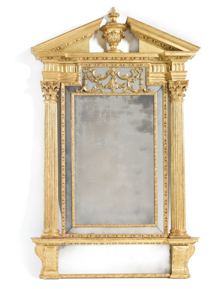 A George II carved giltwood pier glass  irish, circa 1740 attributed to Francis and John Booker  Sotheby's