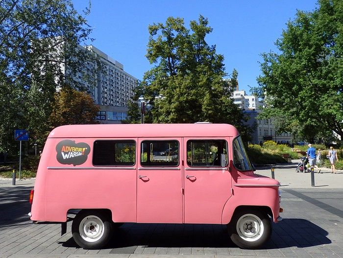 Tour of Warsaw with Adventure Warsaw in a Nysa van