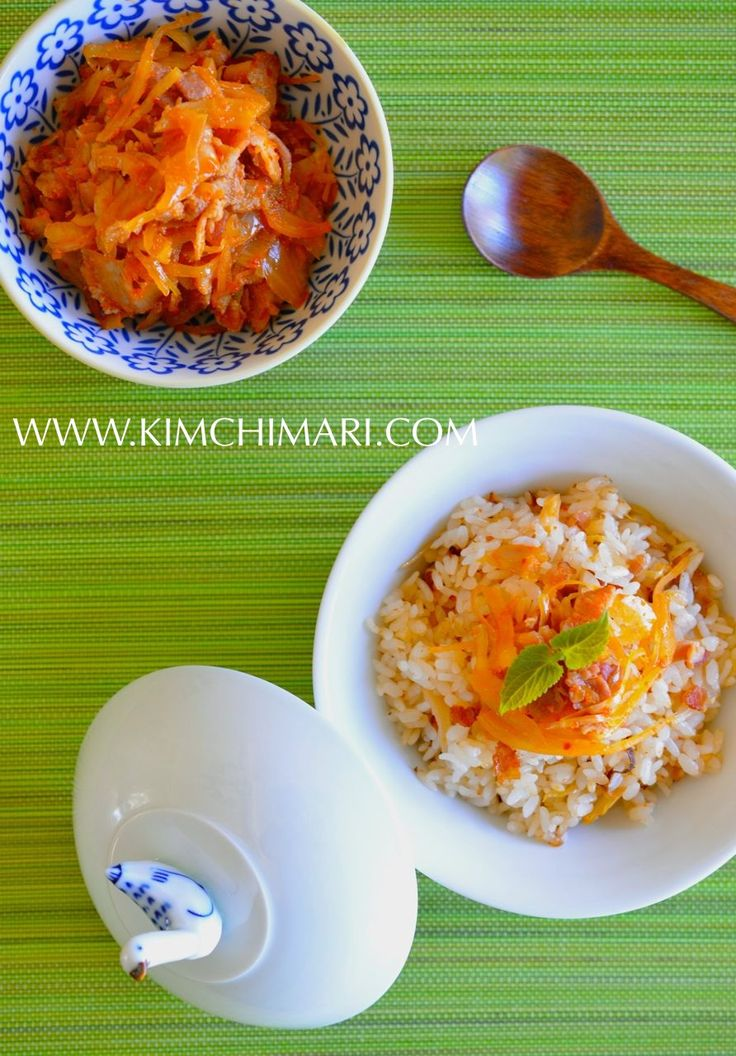 85 best korean food rice dishes images on pinterest korean food easy mock kimchi rice with sauerkraut and bacon forumfinder Choice Image