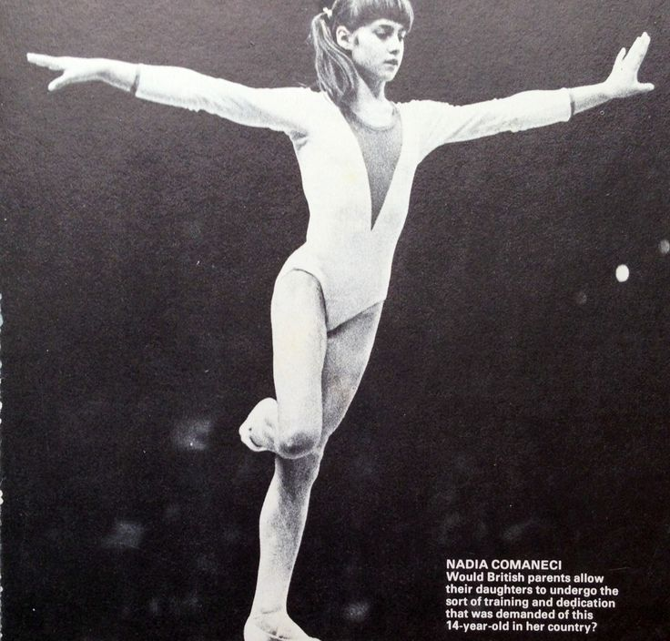 Nadia Comaneci  Romania 1970s First gymnast to get 10.0 the highest score possible she's an amazing girl
