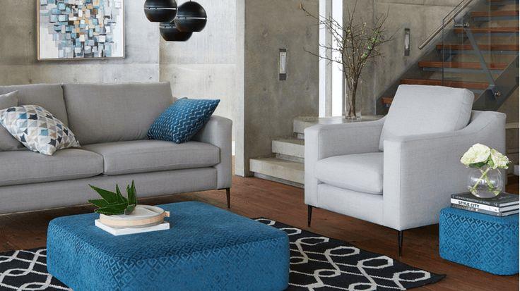Liam Fabric Armchair | Domayne