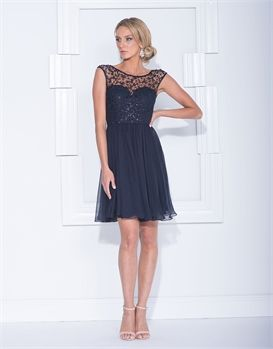 HALLE CAP SLEEVE LACE MINI-cocktail-Bariano - Fashion Designer Australia