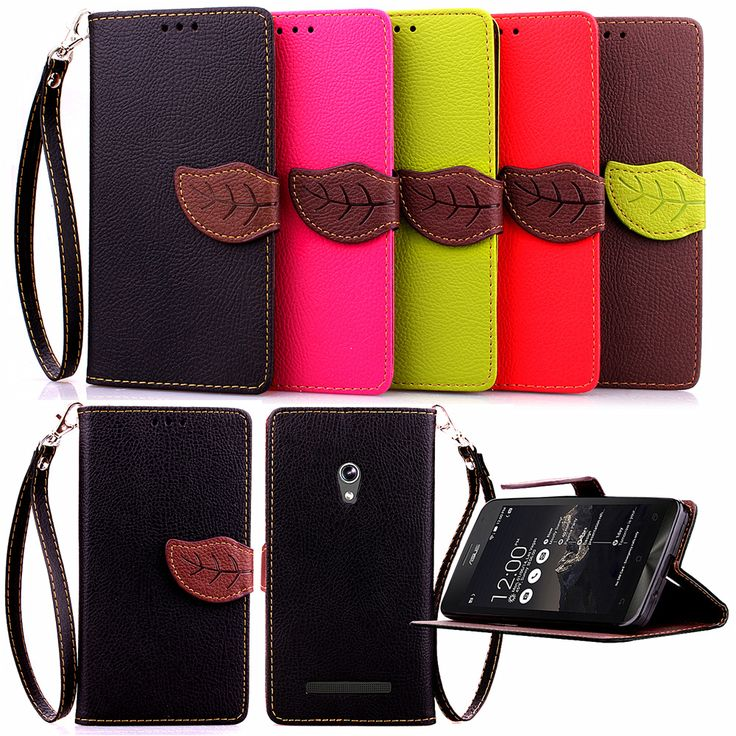 Leaf Design Wallet Leather Flip Case Cover for ASUS ZenFone2 ZE551ML/ZE550ML/4G 5.5 Cell Phone Cases with Stand Price: INR 331.92198 | India