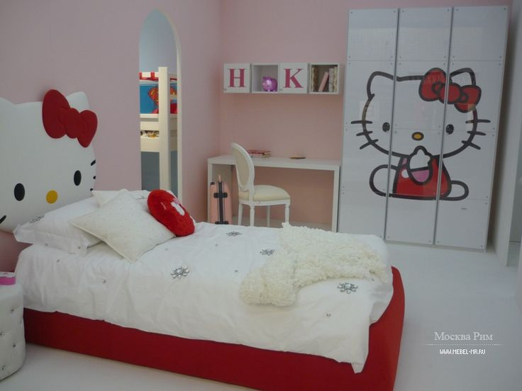 It's so cute a bed room Hello Kity for little girl by CIA International S.r.l., Italy  Милая спальня Hello Kity для маленькой девочки от итальянского производителя CIA International S.r.l.  #designinterior #interior #decor #mebelmr