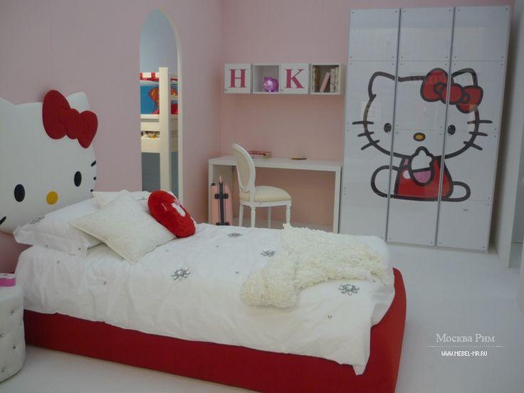 It's so cute a bed room Hello Kity for little girl by CIA International S.r.l., Italy  Милая спальня Hello Kity для маленькой девочки от итальянского производителя CIA International S.r.l.  #designinterior #interior #decor #mebelmr