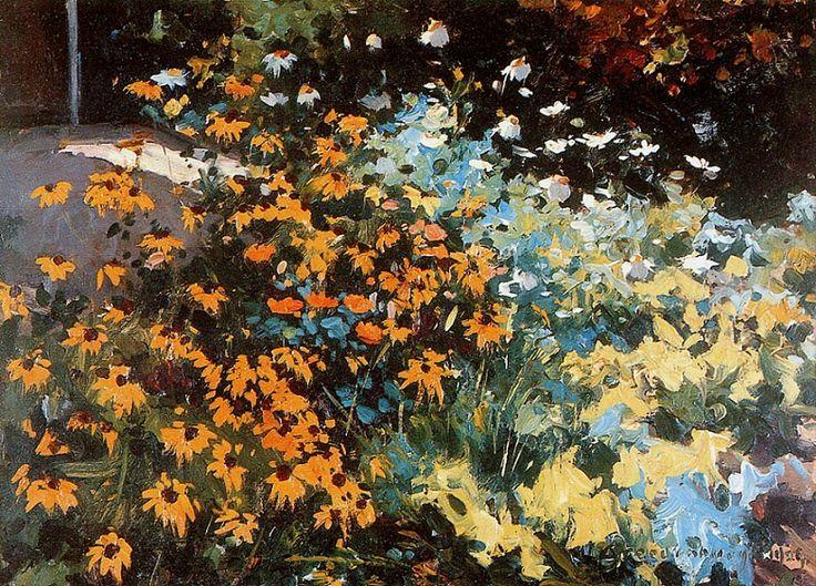A virág nem hiszi, hogy versenyeznie kell a mellette lévő virággal. Egyszerűen csak virágzik… - Németh György {Kép: Cornelis Vreedenburgh (Dutch, 1880-1946) - Flower Beauty}