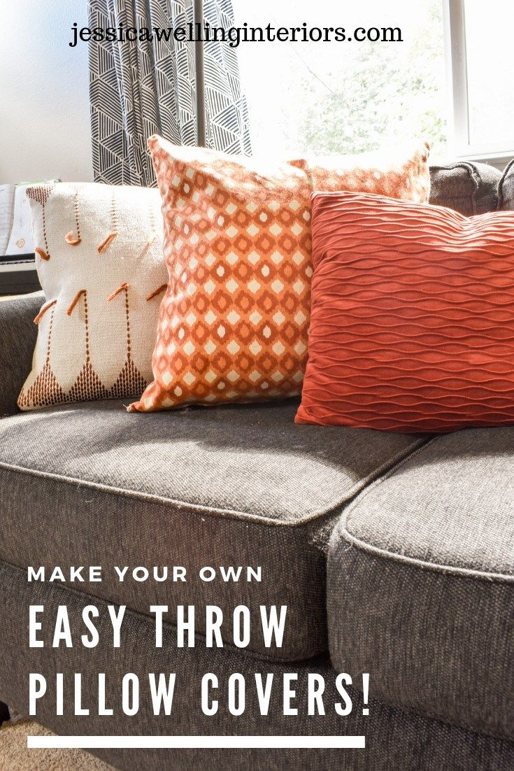 Make Your Own Easy Throw Pillow Covers With Images