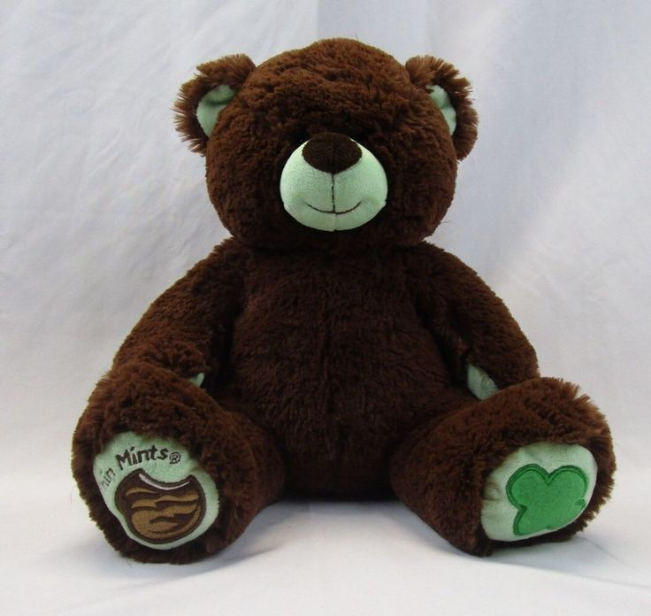 "Build a Bear Girl Scout Thin Mints Bear 12"" plush Teddy Bear  
