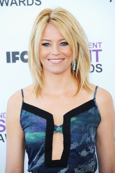 More Pics of Elizabeth Banks Medium Layered Cut (14 of 16) - Elizabeth Banks Lookbook - StyleBistro