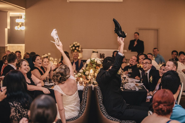 Wedding Shoe Game @mirraprivatedin | G&M DJs | Magnifique Weddings #gmdjs #magnifiqueweddings #brisbanewedding #mirraevents #weddingdjbrisbane @gmdjs