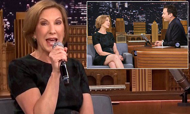 Carly Fiorina sings a song about her dog 'Snickers' on Jimmy Fallon