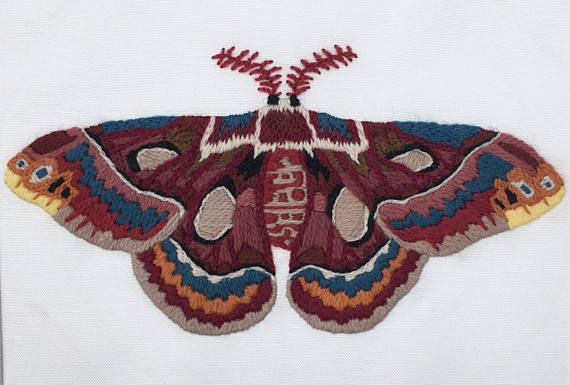 Crewel Intent / Modern day crewel designs inspired by nature.  At Crewel Intent we have taken the same stitches used for the last 400 years and applied them to modern designs. This blend of old world technique and modern design produces artwork that will become treasured heirlooms.   Jacobs' Silk Moth Crewel Embroidery Kit  Learn the basics of crewel embroidery with Crewel Intent!  Crewel Embroidery Kit designed for the bold beginner. No experience needed, just a desire to create.   ...