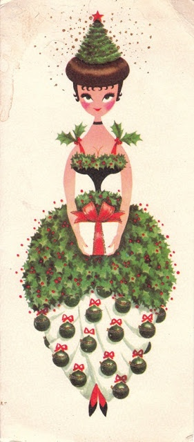 vintage Christmas -- Holly Kissing Ball. Let's bring this back...I love the colors and art.