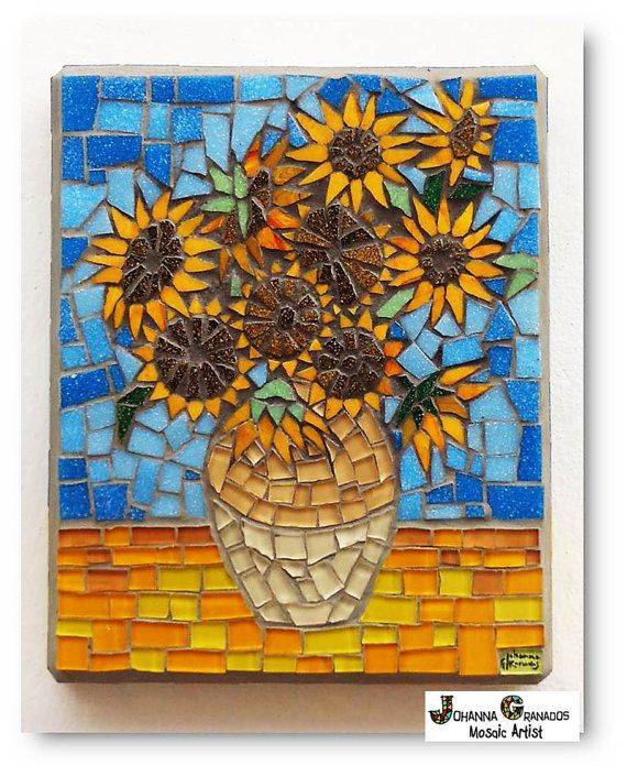 1129 best Mosaic Flowers images on Pinterest