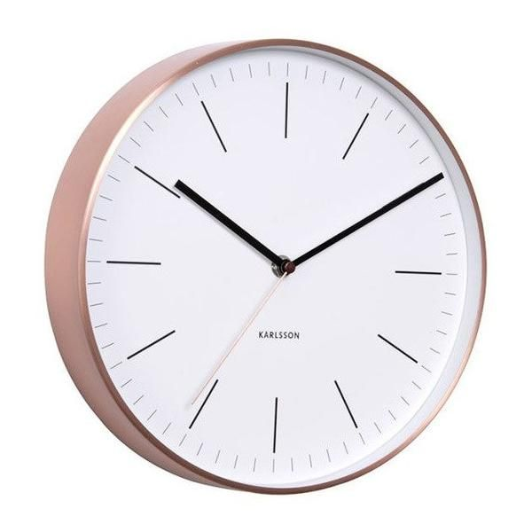 Karlsson Minimal Wall Clock - Copper & White (27.5cm) | Koop.co.nz
