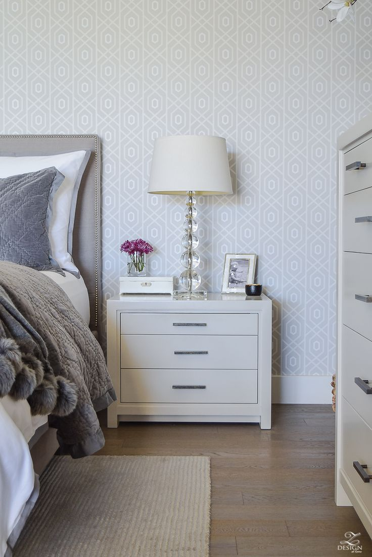 ZDesign At Home: Fall/Winter Master Bedroom Updates - gray and white transitional bedroom