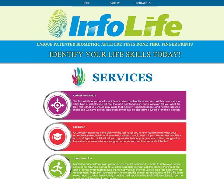 WEBSITE DESIGN >> Info Life Mpumalanga (Aptitude tests) Created By Design so Fine