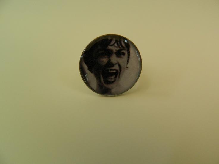 """Psycho""theme round resin ring"