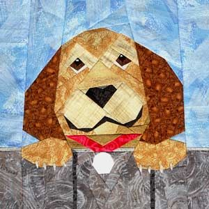Dog paper pieced #quilt block