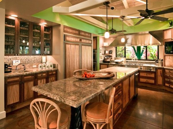 Tropical+Kitchen+Table+Sets | tropical kitchen Remain Cool With Tropical style Kitchen Design home ...