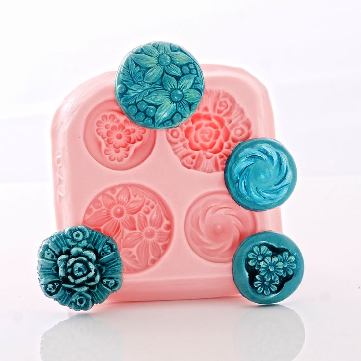 Button mold Floral Rose Button Mould - Food Safe, Fondant, Cream Cheese Mints, Chocolate - Craft Resin, Clay, Metal Clay Jewelry Mold (770) by MoldMeShapeMe on Etsy