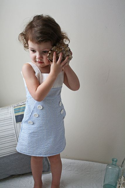 How to Make a Mod Sailor Dress » Wee Baby Stuff | Get ready for baby. « Keywords: sewing, girl, toddler, dress