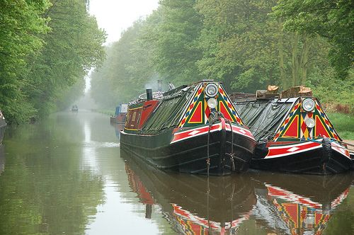 Barges, Trent & Mersey Canal, UK by Posy almitra #canal #narrowboat