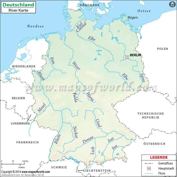 Deutschland Fluss Karte Thats Me Deutschland Fluss Karte