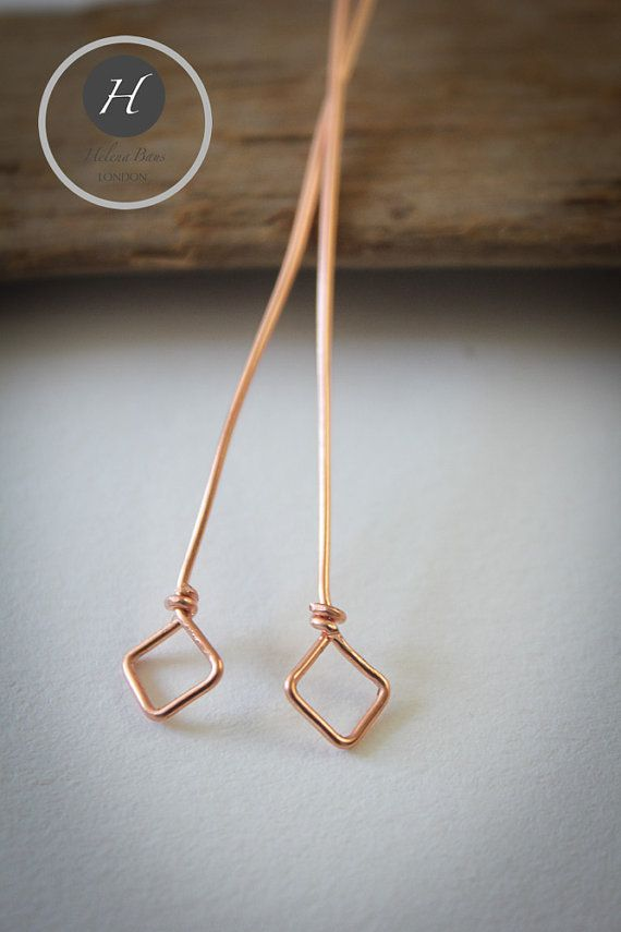 Square/Diamond Shaped Head Pins6 by HelenaBausJewellery on Etsy