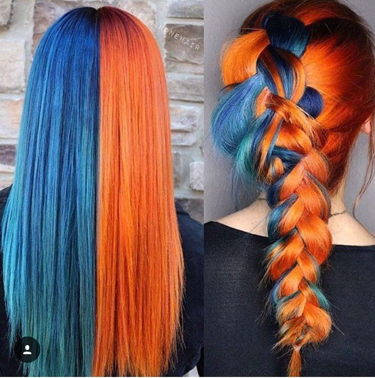 52 Ombre Rainbow Hair Colors To Try 2: Lacee Gutierrez Half And Half Hair Color Gutierrez Lacee