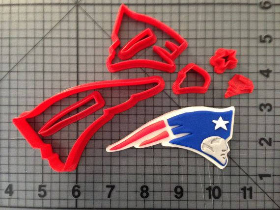 New England Patriots Cookie Cutter Set by JBCookieCutters on Etsy