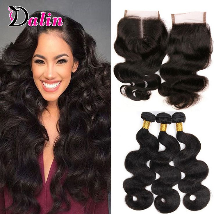 Brazilian Body Wave 3 Bundles With Closure Remy Brazilian Virgin Hair With Closure 7A Unprocessed Wavy Human With Lace Closure