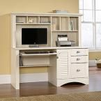 Harbor View Antiqued White Desk with Hutch