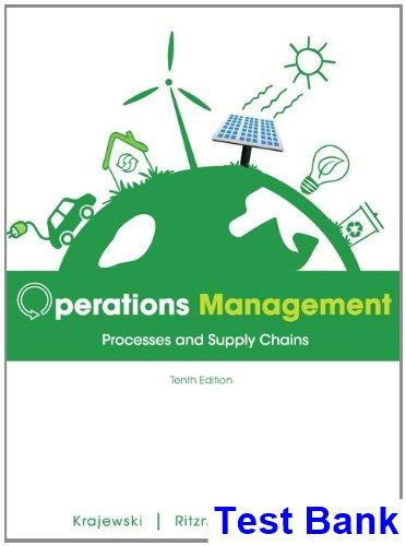 Solution manual for operations management processes and supply.