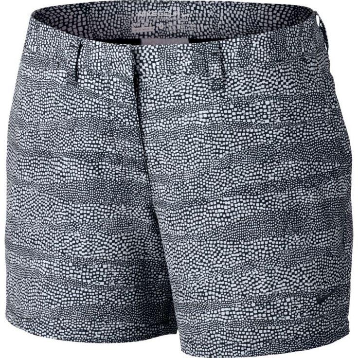 Nike Women's Printed Golf Shorts, Size: 14, Black