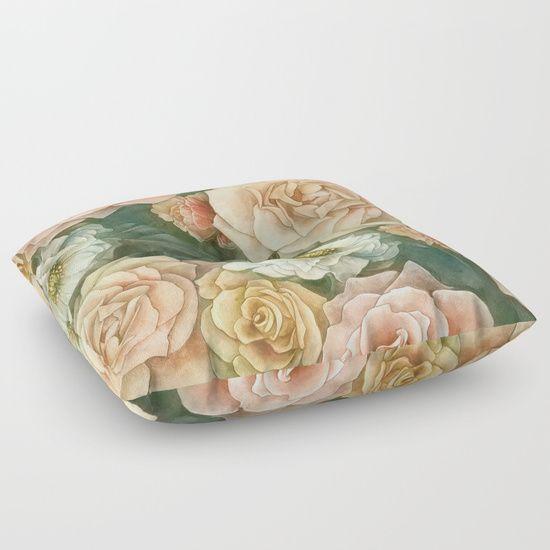 Floral rose pattern Floor Pillow