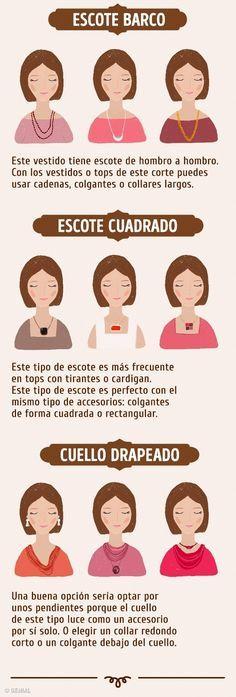Cómo elegir y combinar collares con escotes y aretes con tu rostro