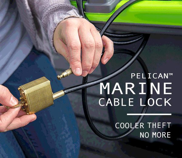 Pelican Marine Cable Lock - Cooler theft no more!