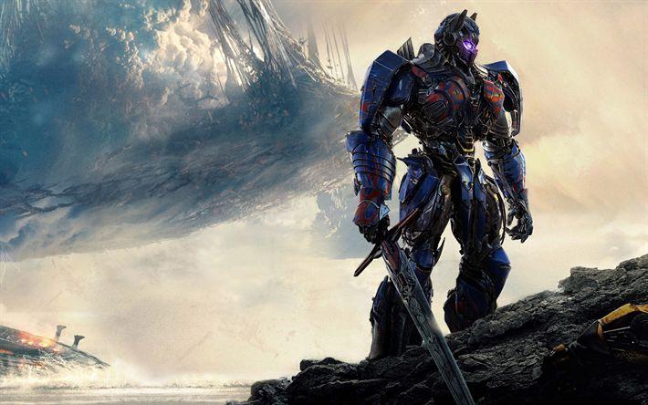 Download imagens Optimus Prime, Transformadores, 2017, O Último Cavaleiro, Transformadores de 5, Autobots