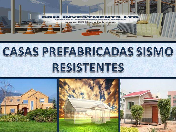 Casas Prefabricadas Sismo-resistentes. www.drmprefab.com