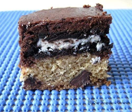 Slutty Brownies {Chocolate Chip Cookie Dough, Oreo Cookies, & Brownie Batter in One!}: Cookies Dough, Chocolate Chips, Chocolates Chips, Chips Cookies, Brownies Batter, Slutti Brownies, Brownie Batter, Brownies Chocolates, Oreo Cookies