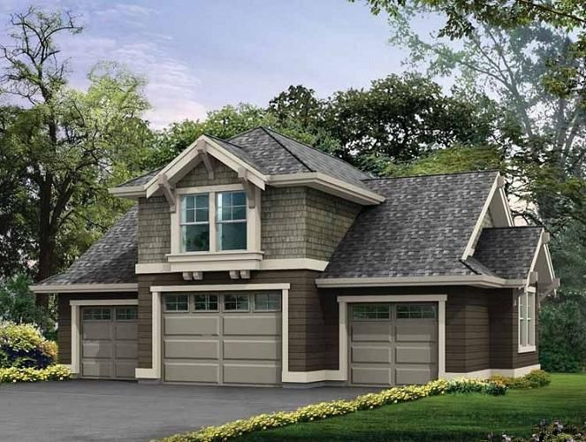 Detached garage plans for modern home 4 car garage for Southern living detached garage plans