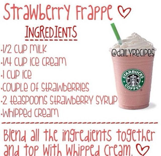 Hier sind die Tipps wie man eine StarbucksErdbeerFrappe ...
