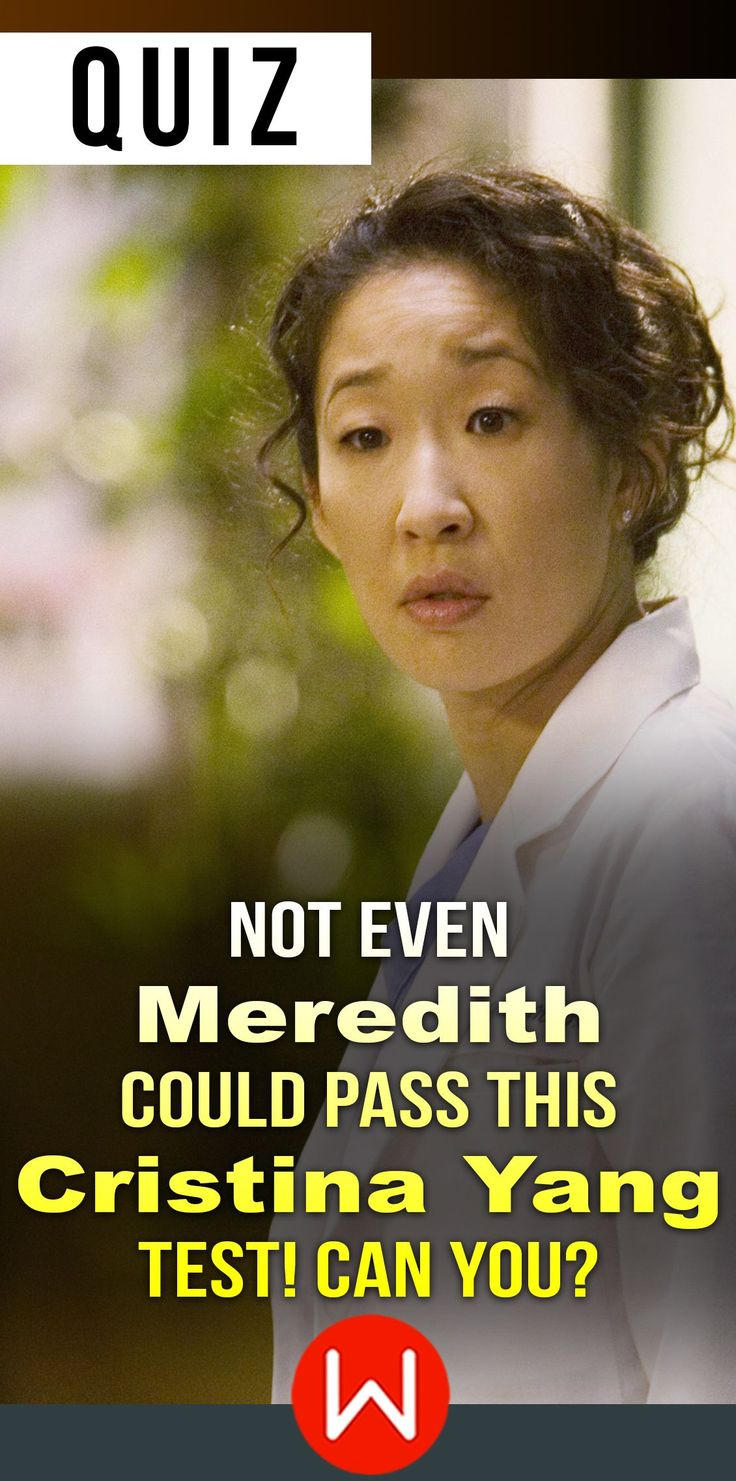 Do you think you know more about the great Cristina Yang than Meredith does? Go ahead and take this quiz to find out! Sandra Oh, Ellen Pompeo, Shonda Rhimes. ONLY real Cristina Yangs fans will ace this trivia. Greys Anatomy trivia quiz. Grey's Anatomy test.