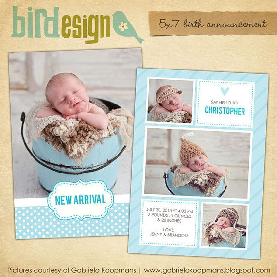 10 best PS Templates images on Pinterest Baby announcements, Birth