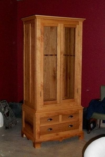 Custom Made Custom Oak Gun Cabinet Mission Style