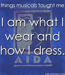 My Strongest Suit! Aida! This was in our annual production!! LUV