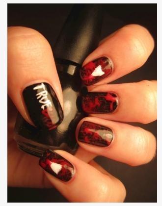 .: Nail Polish, Blood Nails, True Blood, Trueblood, Makeup, Nail Designs, Hair Nails, Nail Ideas, Nail Art